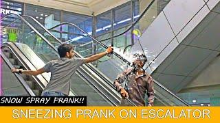 SNEEZING PRANK ON ESCALATOR PRANK!! | Funny Sneezing | Amanah Mall | Prank In Pakistan
