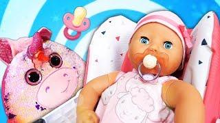 Barbie and Baby doll dress up for a walk in a baby doll stroller - Funny videos