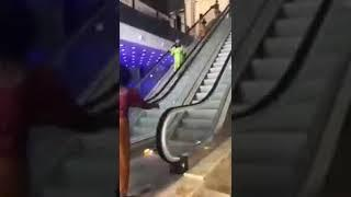 SOME WOMEN WHO SAW ESCALATOR FOR THE FIRST TIME MADE PEOPLE LAUGH
