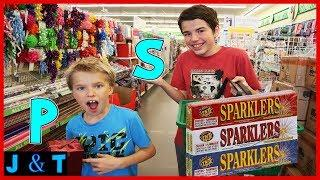Buying Everything In Alphabetical Order Shopping Challenge / Jake and Ty