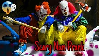 JALALS SCARY NUN PRANK CLOWN COMPILATION!