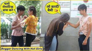 Beggar Dancing With Cute Girls????❤️ Prank With A Funny Twist???????? | Kalol Pranks | Prank In Indi