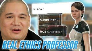 Ethics Professor Is Put Into Moral Dilemmas In Detroit Become Human • Professionals Play