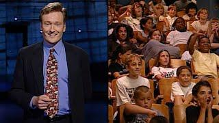 "Conan's All Kids Audience Show - ""Late Night With Conan O'Brien"" 08/08/97"