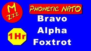 Phonetic Alphabet (NATO) 1 Hour - Learn the Phonetic Alphabet - Repeated for 1 Hour - Royalty Free