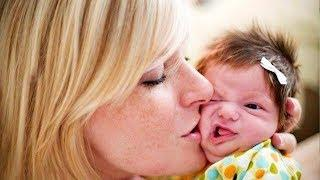 Funny Baby Reaction to Parent Kisses -  Cute Baby Videos
