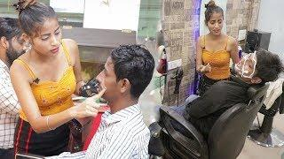 Annu Singh: Salon prank on cute girl | male parlour prank on cute girl | prank gone wrong | BRbhai