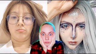????ШОК! БЕЗУМНЫЙ ЧЕЛЛЕНДЖ В ТИК ТОК ???? Face Transformation Challenge in Tik Tok China (реакция)