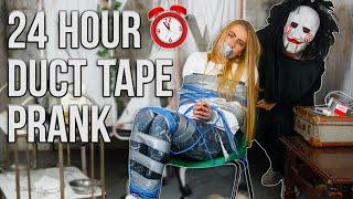 DUCT TAPE PRANK ON MY GIRLFRIEND For 24 Hours Prank!