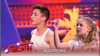 Izzy & Easton: Ages 11 and 14 This Young Dancing Duet WOW The Judges! | America's Got Talent 2019