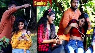????Snake Prank on Cute Girls???????? Prank Gone Wrong | PrankBuzz