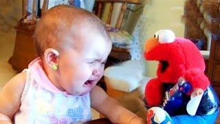 Funny Baby Reacts to Toys -  Funny Baby Videos