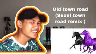 [ REACTION ] lil nas x - old town road ( Seoul town road ) feat RM of BTS